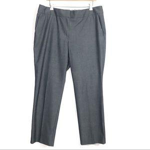 Ann Taylor Loft Marisa Gray Dress Pants Trouser 14